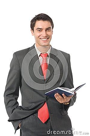 Businessman with organizer