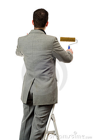 Businessman Painting Your Text