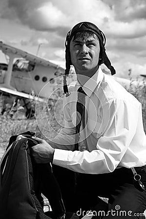 Businessman - a paratrooper.