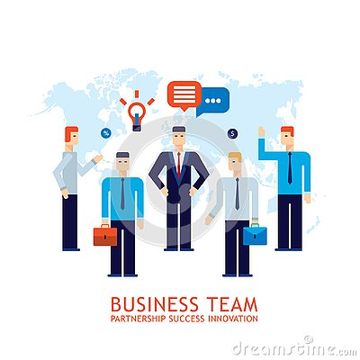 Free Businessman Partnership Teamwork Collaboration Successful Business Team Concept Flat Design Royalty Free Stock Photos - 130482548