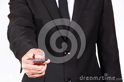 Businessman pay credit card