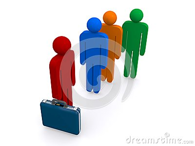 Businessman and people