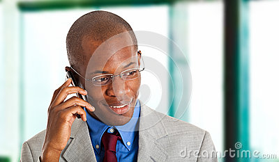 Businessman at phone