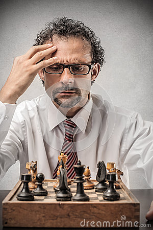 Free Businessman Playing Chess Royalty Free Stock Photo - 38111295