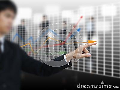 Businessman point graph
