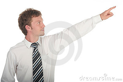 Businessman Pointing