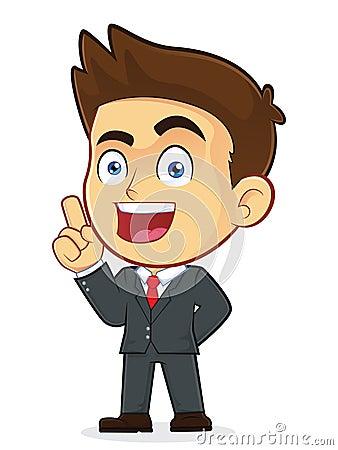Free Businessman Pointing Upwards Royalty Free Stock Photography - 35917607