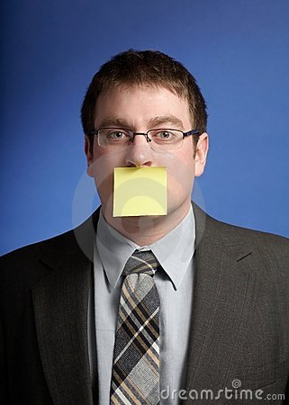 Businessman with post-it