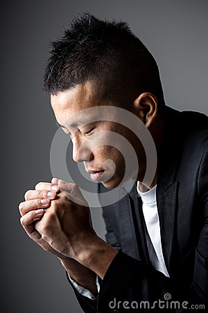 Businessman pray