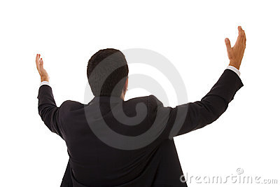 Businessman praying