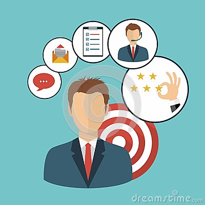 Free Businessman Presenting Customer Relationship Management. System For Managing Interactions With Current And Future Customers Royalty Free Stock Photography - 116902957
