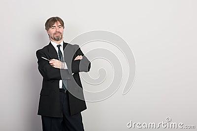 Businessman presenting something