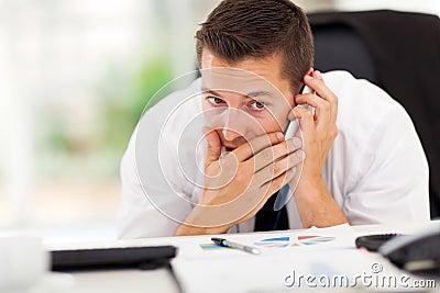 Businessman private call