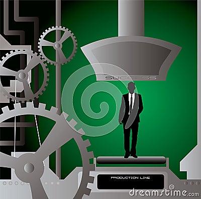 Businessman production cut
