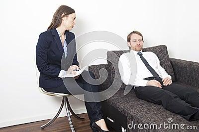 Businessman at psychoanalysis