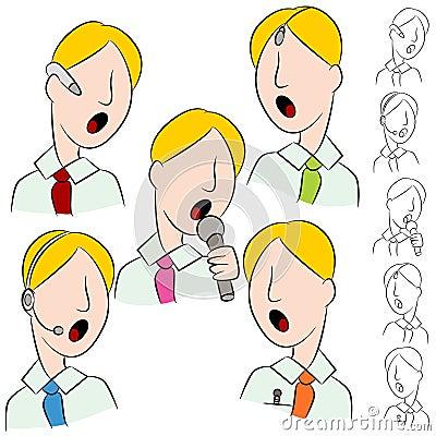Businessman Public Speaker Microphone Set