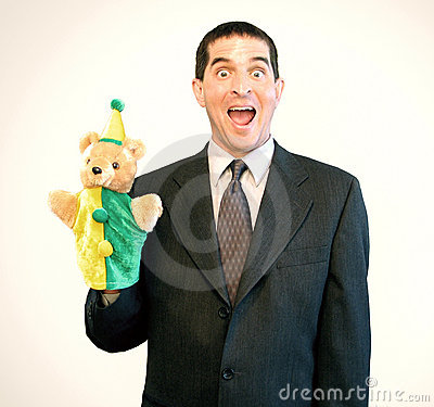 Free Businessman Puppet Surprise Stock Photo - 156000