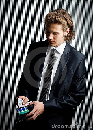 Businessman with purse