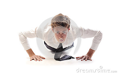 Businessman Push Up
