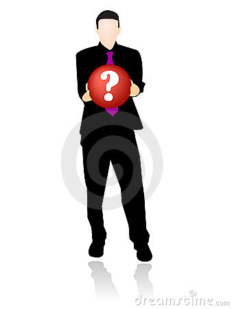 Businessman with question symbol