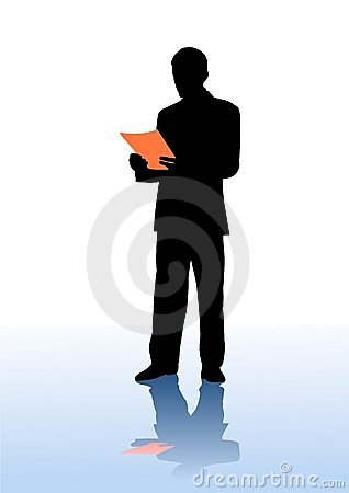 businessman read document