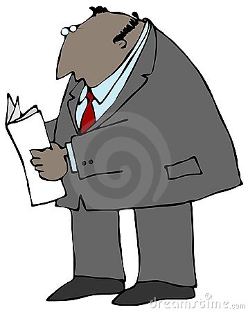 Businessman Reading A Paper