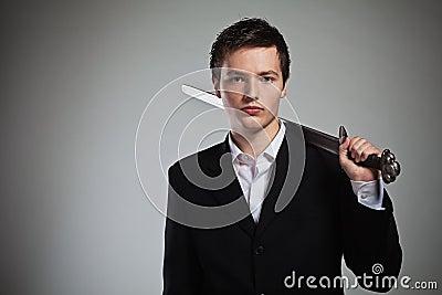 Businessman Ready for Battle