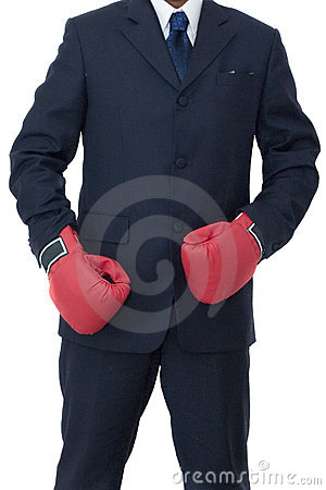 Free Businessman Ready To Fight Royalty Free Stock Image - 154876