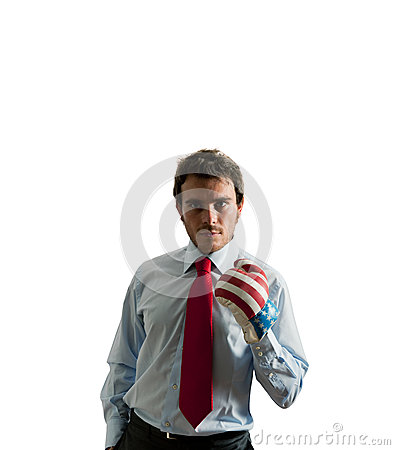 Free Businessman Ready To Fight Royalty Free Stock Photography - 26963967