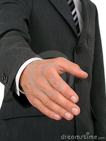 Free Businessman Ready To Shake Hands Stock Image - 223891