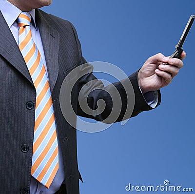 Businessman receiving emails