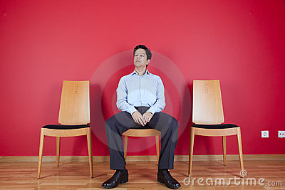 Businessman with relaxing