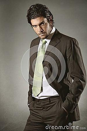 Businessman with resolute gaze