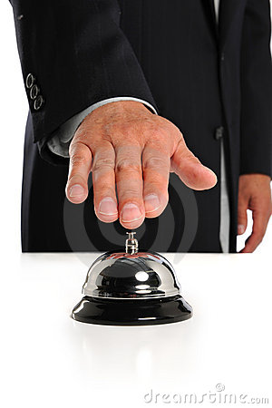 Businessman Ringing Bell