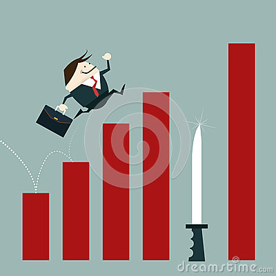 Free Businessman Risk Of Investment Mistakes Royalty Free Stock Photography - 50840567