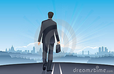 Businessman-Road to Success-London job opportunity