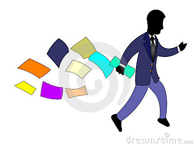 Businessman Rushing
