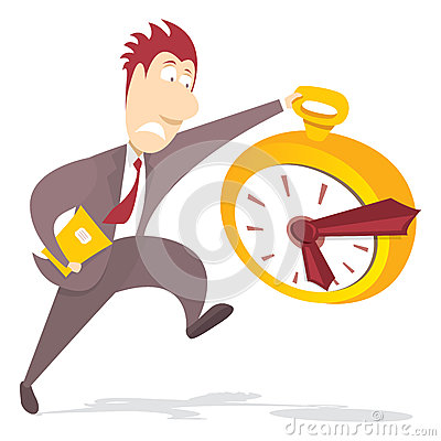 Free Businessman Rushing For Deadline Stock Photography - 42048032