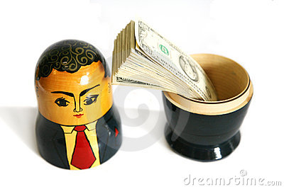 Businessman Russian doll