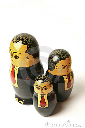 Free Businessman Russian Dolls Stock Image - 2993021