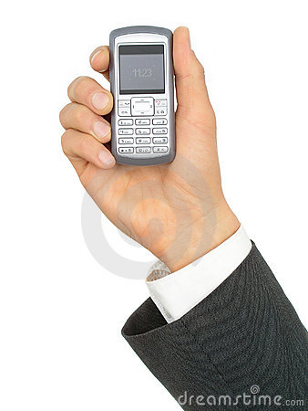 Free Businessman S Hand Holding A Cell Phone Stock Photography - 223932
