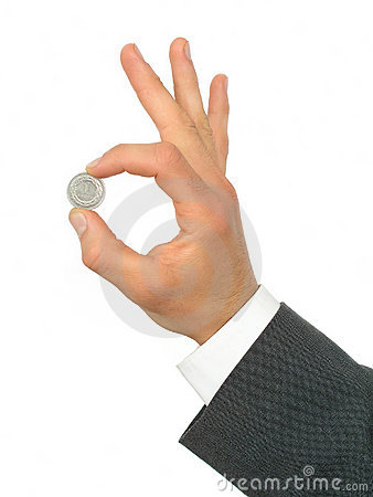 Free Businessman S Hand Holding Coin Stock Image - 236791