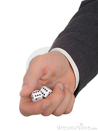Free Businessman S Hand Holding Dice Royalty Free Stock Photo - 237325