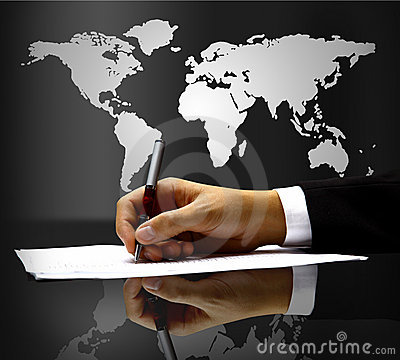 Businessman s hand with pen