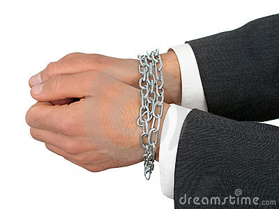 Businessman s Hands In Chains