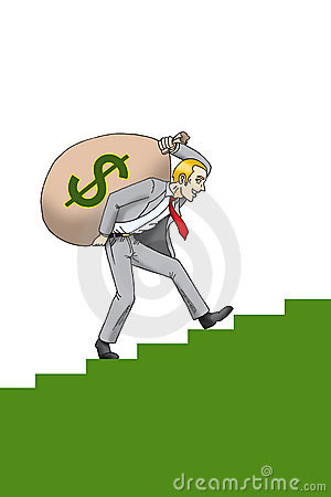 Businessman with sack of money