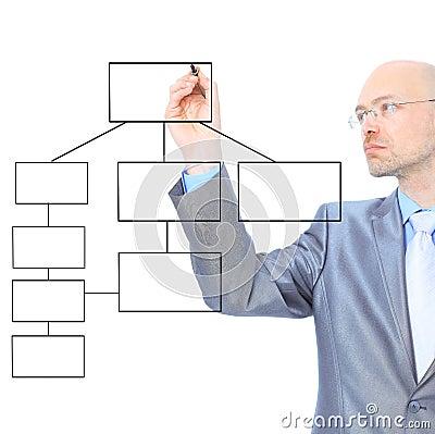 Businessman scheme draw contract