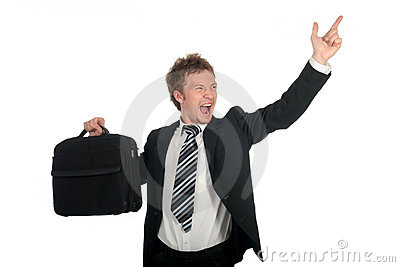 Businessman Screaming
