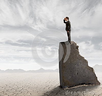 Businessman in search of work