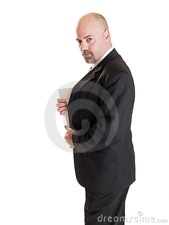 Businessman - Secret Document Royalty Free Stock Images - Image: 16461549
